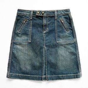 "NWOT Denim/Jean A-Line Skirt + Pockets 1 28"" x 19"""